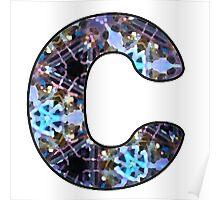 Letter Series - c (kaleidoscope) Poster