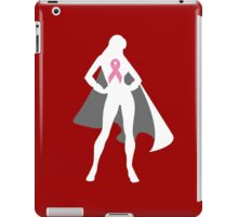 Pink Warrior in Cape (in White) iPad Case/Skin