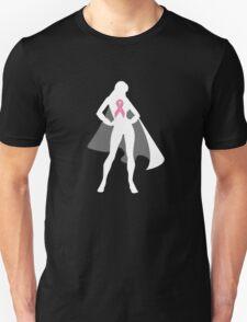 Pink Warrior in Cape (in White) Unisex T-Shirt
