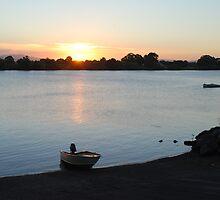 Tinny Sunset by Graham Mewburn
