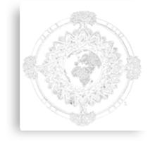 Earth Mandala (white) Canvas Print