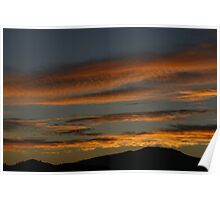 Sunrise over the countryside Poster