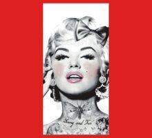 Marilyn Tattoed Monroe Kids Clothes