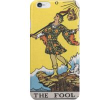 Tarot card - The Fool iPhone Case/Skin