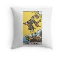 Tarot card - The Fool Throw Pillow