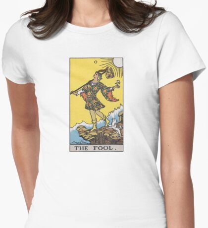 Tarot card - The Fool Womens Fitted T-Shirt