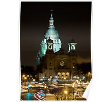 Basilica Of Saint Mary at night Poster