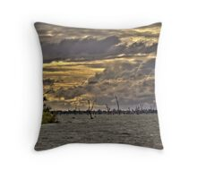 Storm Clouds over Lake Mulwala Throw Pillow