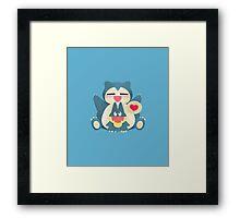 Love Your Mother (Blue) Framed Print