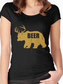 BEAR DEER BEER Women's Fitted Scoop T-Shirt