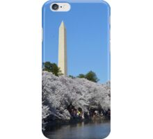 The Washington Monument and the National Cherry Blossoms - Washington D.C. iPhone Case/Skin