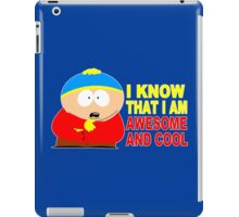 I know that i am awesome and cool funny geek nerd iPad Case/Skin