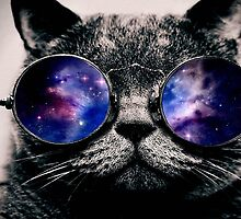 Galaxy on Cat's Glasses by mikelpegel