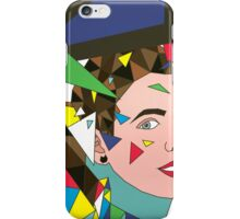 Tilted Autoportrait with Triangles iPhone Case/Skin