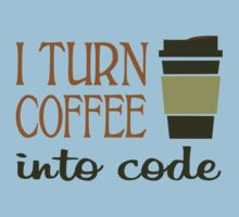 I turn coffee into programming code funny geek nerd by superfeb