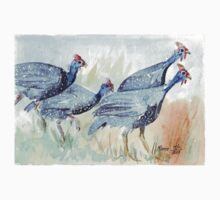 Guinea fowl in my garden Kids Clothes