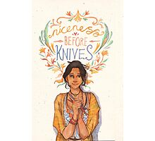 Niceness Before Knives Photographic Print