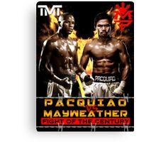 Flod mayweather Vs Many pacquiao Boxing Canvas Print
