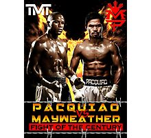 Flod mayweather Vs Many pacquiao Boxing Photographic Print
