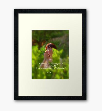 Namaste in Nature Framed Print