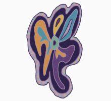 Purple Freeform Flower by Rebekah  McLeod