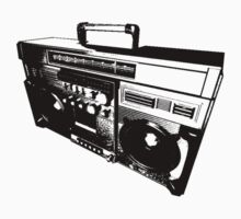Old skool boom box by Nathan J Lester