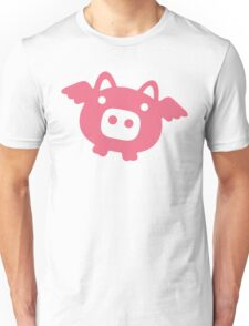 Flying Pink Pig Unisex T-Shirt