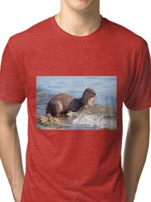 Hungry River Otter Tri-blend T-Shirt
