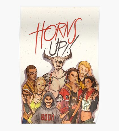 Horns Up! Poster
