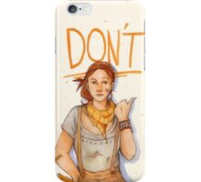 DON'T iPhone Case/Skin