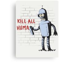 Bender hates Canvas Print