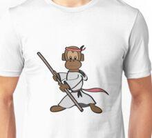 Martial Arts Monkey Unisex T-Shirt