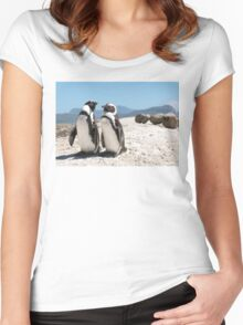 Penguin Shack Cape Town Women's Fitted Scoop T-Shirt