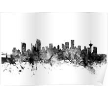 Vancouver Canada Skyline Poster