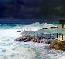 Bronte Ocean Pool Under Stormy Weather by Paul Pinkley