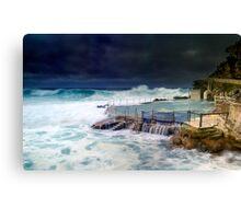 Bronte Ocean Pool Under Stormy Weather Canvas Print