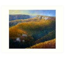 Mt Hay in the afternoon Art Print