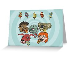 Who is eating which popsicle? Greeting Card
