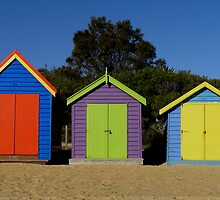 Brighton Bathing Boxes by Christopher Biggs