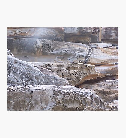 Rock Formation (2), Mahon Ocean Pool, North Maroubra, N.S.W., Australia Photographic Print