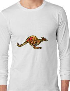 Aboriginal Kangaroo Long Sleeve T-Shirt