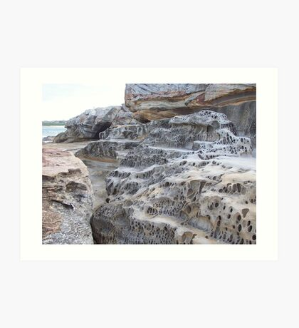 Rock Formation, Mahon Ocean Pool, North Maroubra, N.S.W., Australia Art Print