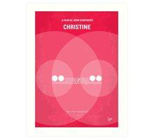 No016 My Christine minimal movie poster Art Print