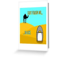 Penguin in the Desert Greeting Card