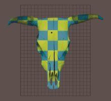 Harlequin Steer Skull Grid by finnos