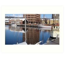 Constitution Dock Art Print