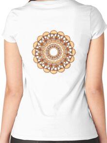 Rusty Skull mandala  Women's Fitted Scoop T-Shirt