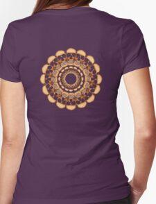 Rusty Skull mandala  Womens Fitted T-Shirt