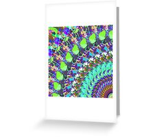 Abstract Collage of Colors Greeting Card