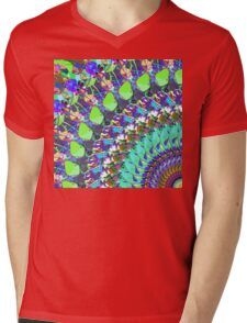 Abstract Collage of Colors Mens V-Neck T-Shirt